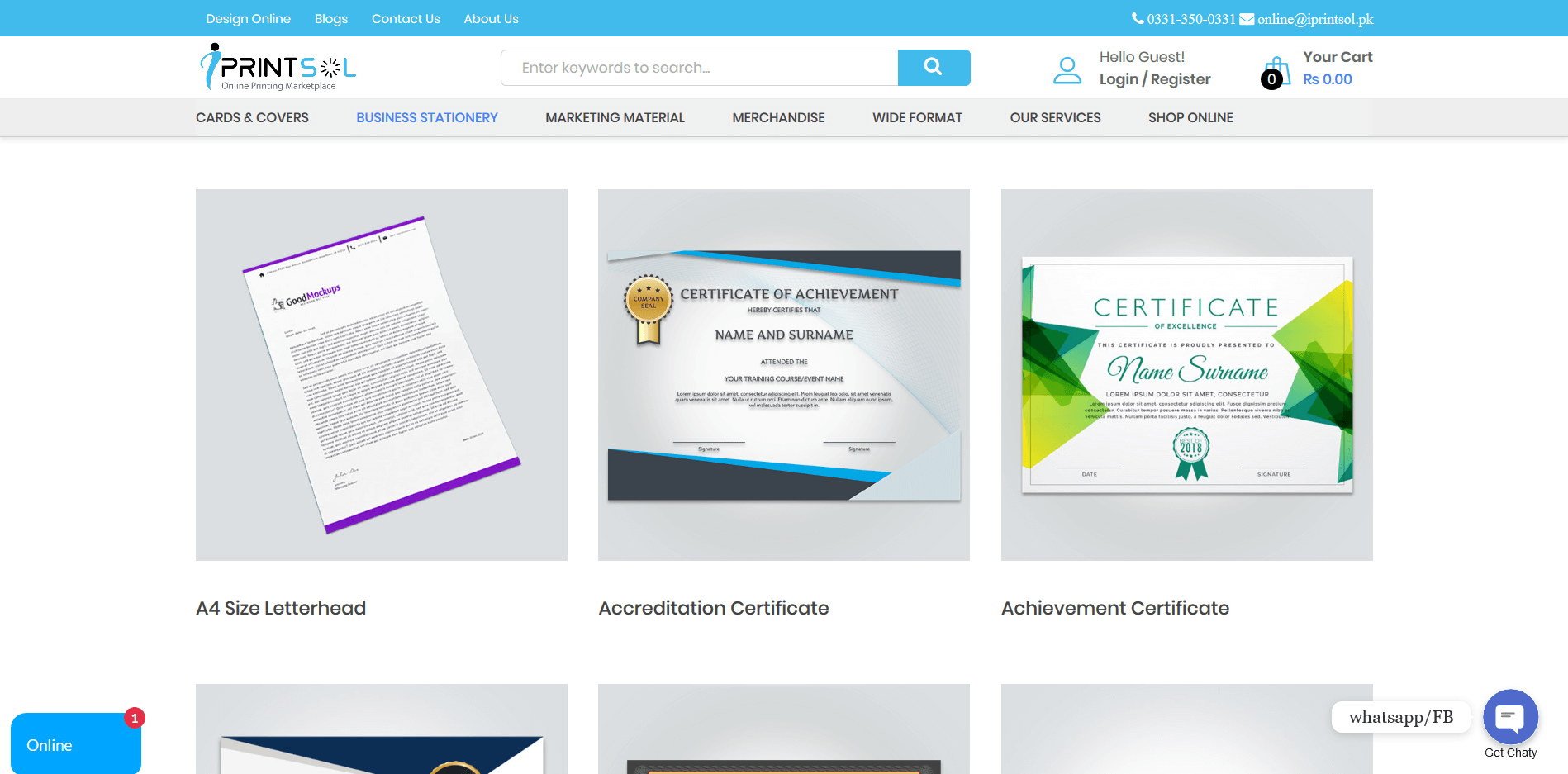 Screenshot_2020-03-31 Best Online Business Stationery Printing Services in Pakistan, Lahore, Karachi, Islamabad iPrintSol
